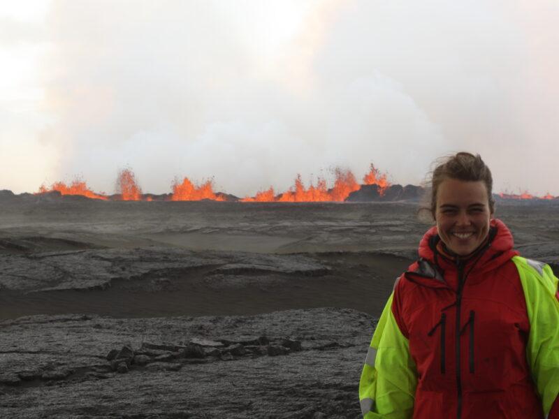 Thorbjörg at the Holuhraun eruption