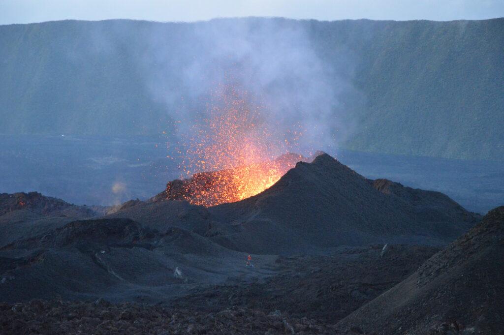 An eruptive vent at Piton de la Fournaise volcano.